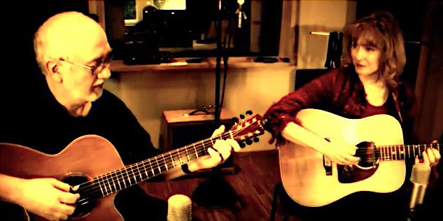 Ian Melrose & Kerstin Blodig recording at Surrealis Sounds Berlin